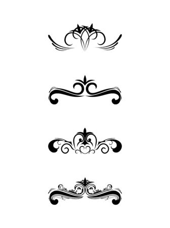 antique chic: Swirl elements and monograms for design and decorate.
