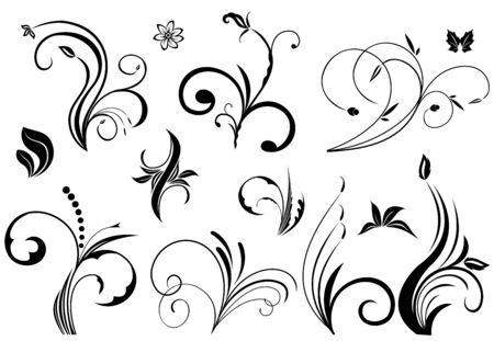 cat�licismo: Elementos florales en varios estilos