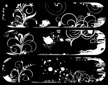 Illustration of set abstract grunge banners  Vector