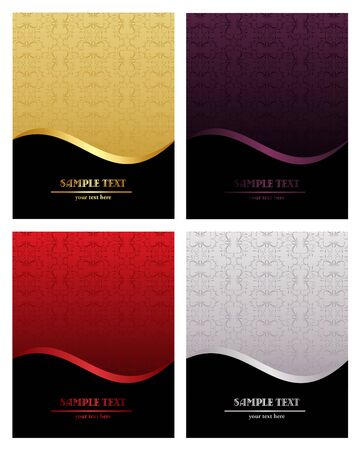 Set of luxury backgrounds for design Vector