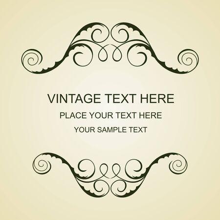 Illustration of beautiful vintage template  Vector
