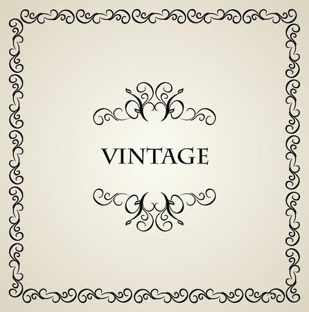 Illustration vintage background card for design