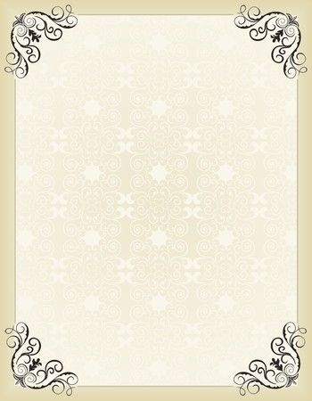 gold frame: Illustration vintage background card for design