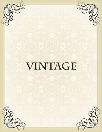 Illustration vintage background card for design Stock Vector - 7589854