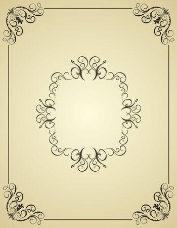 Illustration vintage background card for design Stock Vector - 7589446