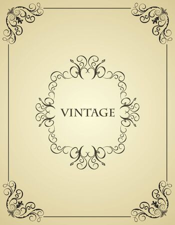Illustration vintage background card for design Stock Vector - 7589658