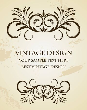Illustration of beautiful vintage template  Stock Vector - 7589768