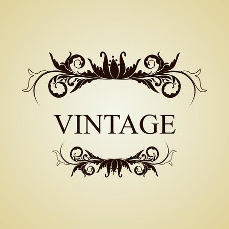 Illustration vintage background card for design Stock Vector - 7589259