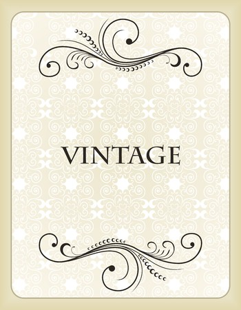 Illustration vintage background card for design  Stock Vector - 7589784