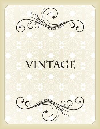 Illustration vintage background card for design Stock Vector - 7589784