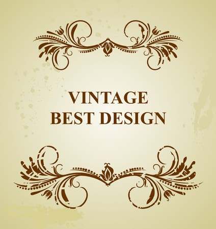 metallic grunge: Illustration vintage background card for design