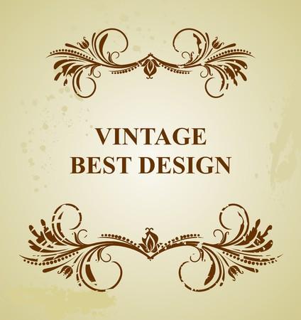 Illustration vintage background card for design Stock Vector - 7589708