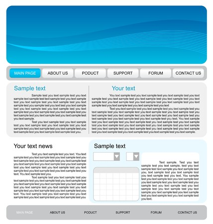 psd: Illustration of web site template