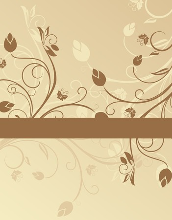 Floral background for design card Stock Vector - 7851465