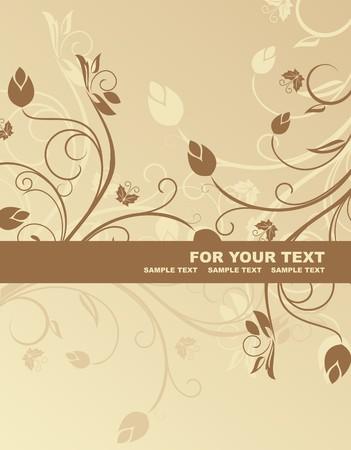 Floral background for design card Vector