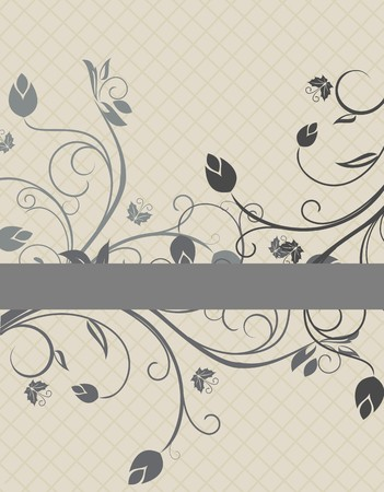 Floral background for design card  Vector