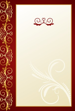 fretwork: Illustration of Greeting ornament card.