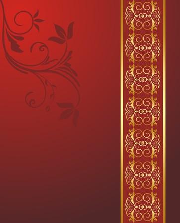 grecas: Ilustraci�n de ornamento tarjeta de saludo.  Vectores