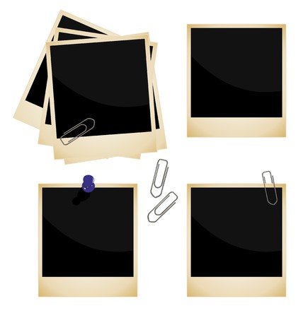 Realistic illustration of set a photo frame  Vector
