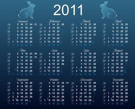mondays: European calendar 2011, starting from Mondays