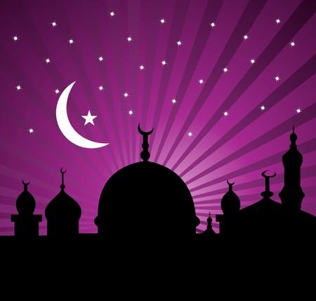 allah: Eine islamische Gru�karte f�r Heiligen Monat Ramadan Kareem.  Illustration