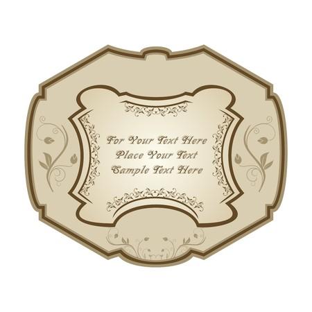 Illustration of vintage label, wine. Stock Vector - 7852084