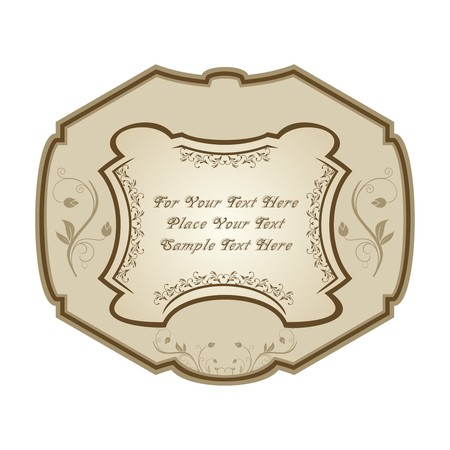 Illustration of vintage label, wine.  Stock Vector - 7852084