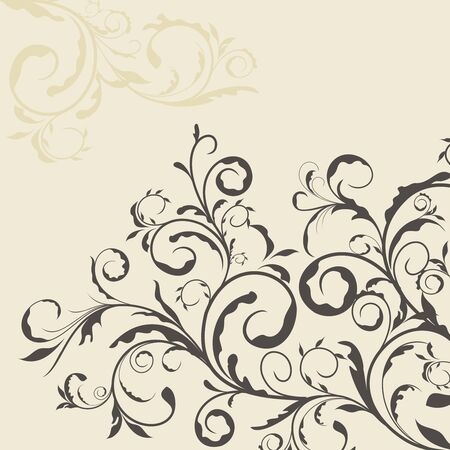 Illustration the floral decor element for design and border Vector