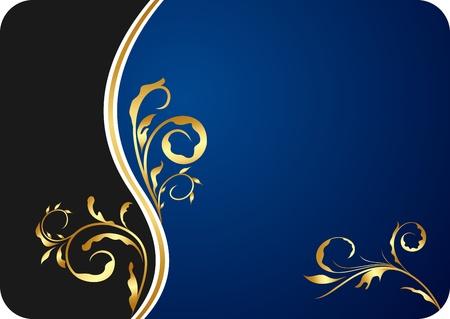 visitenkarte: Abbildung blau blumen Business-Card und Einladung