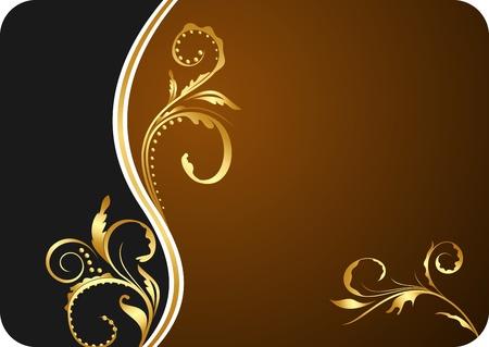 Illustration for design floral business card and invitation
