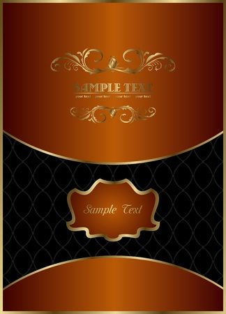 food label: Illustration the red web template for design label background