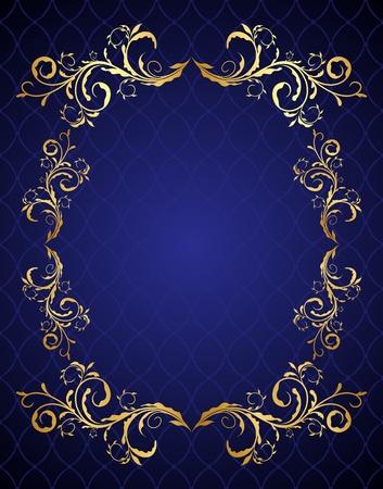 Floral background for design card.