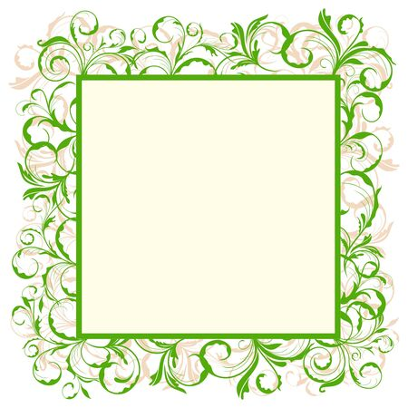 Illustration of floral eco green frame Stock Vector - 8290107