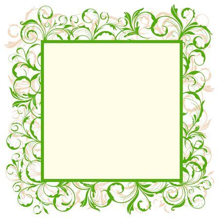 Illustration of floral eco green frame Stock Vector - 8290107