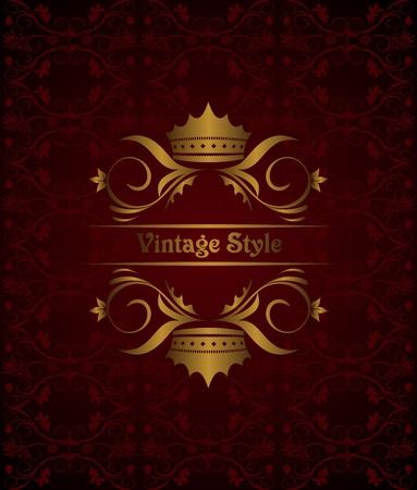 Illustration vintage background with crown Illustration