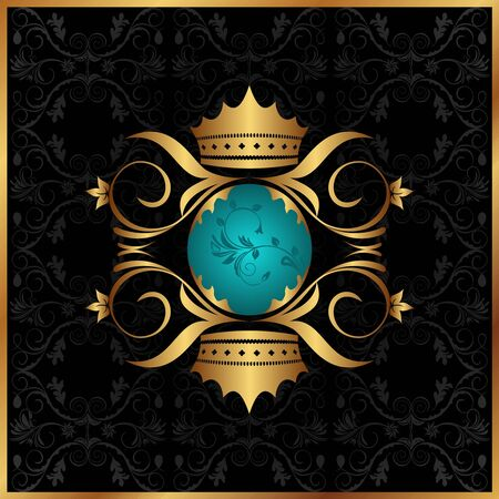 royal blue: Illustration of Coat of arms Illustration