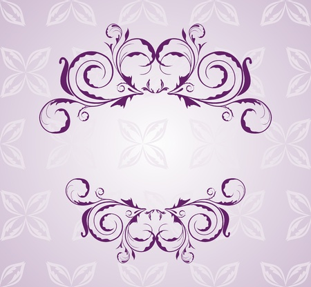Illustration floral background for design wedding card Vector