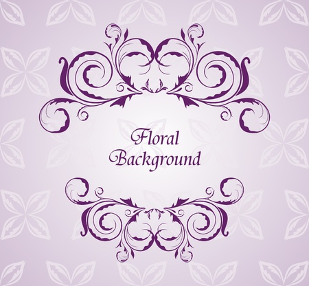 Illustration floral background for design wedding card Stock Vector - 8290098