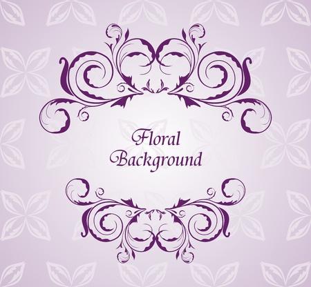 Illustration floral background for design wedding card Vector
