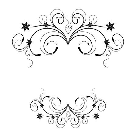 Illustration the floral frame for design card or invitation