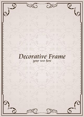 ornate frame. Perfect as invitation or announcement Stock Vector - 8290251