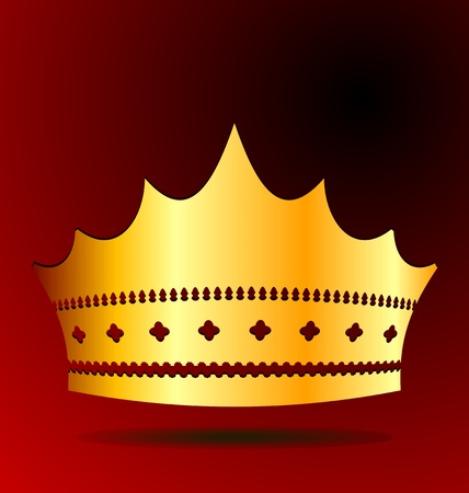 Illustration the gold royal crown for jewel design Vector