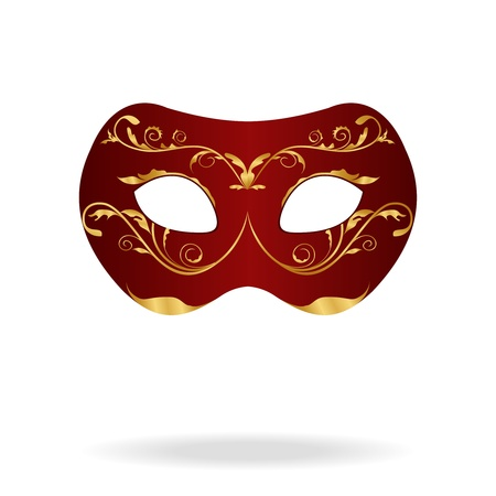 carnevale: Illustration of realistic carnival or theater mask isolated on white background