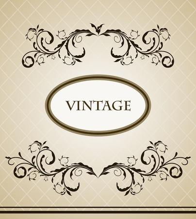 Vintage frame for design card.