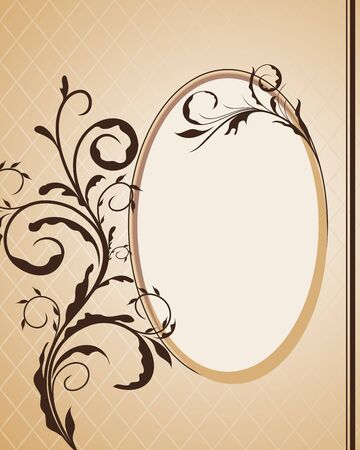 mirror image: Vintage frame for design card.