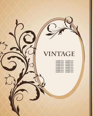 Vintage frame for design card.  Vector