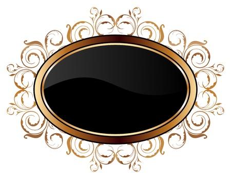 Illustration of vintage gold floral frame Stock Vector - 8290060