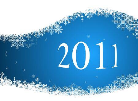 Illustration of winter background 2011
