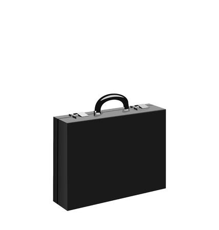 business case: Illustratie zwarte businesscase geïsoleerd