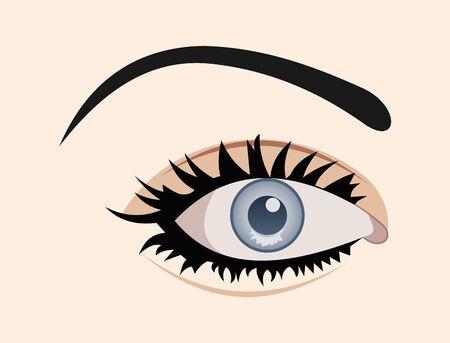 close up eye: Illustrazione di chiudere occhio isolato  Archivio Fotografico